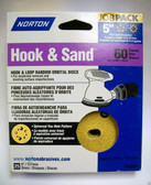 "5"" Hook & Loop 5 or 8 Hole 60 Grit 25 pack Norton - Velcro"