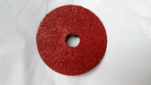 "4-1/2"" x 7/8"" Fiber Resin Sanding Disc Aluminum Oxide 24 Grit, LTS, 50 Discs"