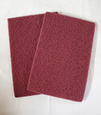 "6"" x 9"" Non-Woven Hand Pads, Maroon, 10pk - FREE SHIPPING"