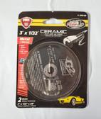 "3"" x 1/32"" x 3/8"" Ceramic Cut Off Wheels, Type 41, 10 discs - FREE SHIPPING"