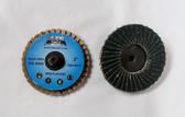 "2"" R Roloc Flap Discs 80 grit, Zirconia, 10 Discs, Free Shipping!"