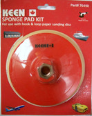 "6"" x 5/16"" Sponge Pad Kit Hook & Loop Keen Abrasives #76498 - Lot of 1"