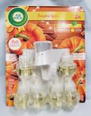 Air Wick Pumpkin Spice Fragrance 1 Warmer & 6 Fragrance Refills - FREE SHIPPING