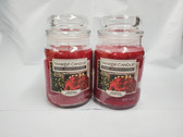 Yankee Candle Home Inspiration Fresh Poinsettia 19 oz Jar Candle Lot of 2 - FREE SHIPPING