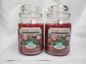 Yankee Candle Home Inspiration Holiday Apple Wreath 19 oz Jar Candle Lot of 2 - FREE SHIPPING