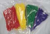 "6"" Tear-Away Cable Zip Tie Tote Saver Easy Off Release, Lot of 100"