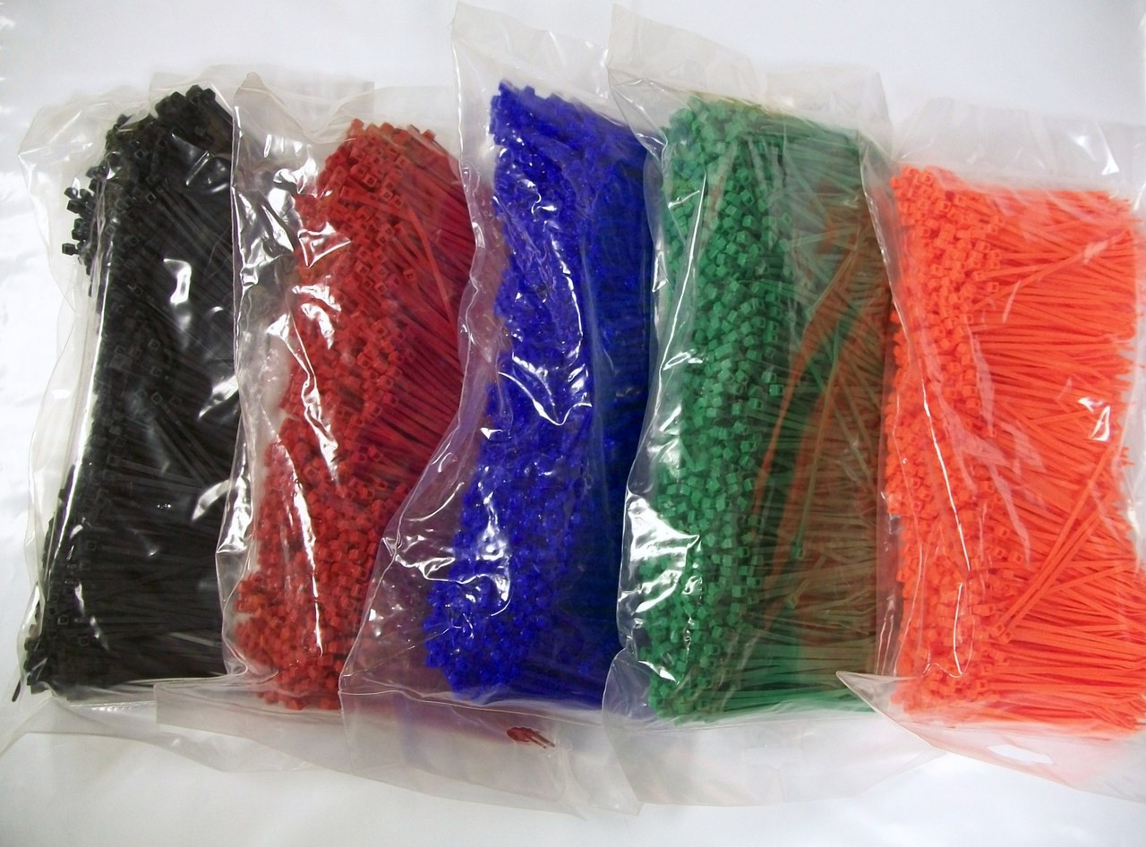 """4/"""" Yellow Nylon Cable Zip Ties 18LB 100pk USA MADE"""