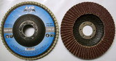 "4-1/2"" Flap Disc 40 Grit Type 27 AO Professional Grade 50 Discs"