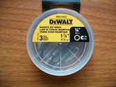 "DeWALT 1/4"" Magnetic Nut Setter 1-7/8"" long DW2218C3 -16 Packs of 3 Bits=48 Bits"