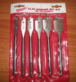 Milwaukee 6 Piece Flat Boring Bit Set - 49-22-0071