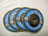 "4-1/2"" Flap Discs, Type 27, AO, Professional Grade, 100 Discs, You Choose Grit, Free Shipping!"