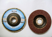 "4-1/2"" Flap Discs, Type 27, AO, 36 Grit, Professional Grade, 90 Discs, Free Shipping!"