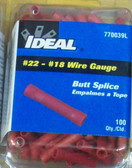 #22 - #18 Butt Splice Ideal 770039L, 100pk - Lot of 1