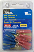 Weatherproof Ring Terminals Multipack - Ideal 770324,18pk, Lot of 1