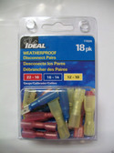 Weatherproof Disconnect Pairs Multipack - Ideal 770326, 18pk, Lot of 1