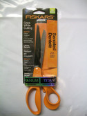 "Titanium Shop Shears Fiskars 9"" Serrated Scissors - Lot of 1"