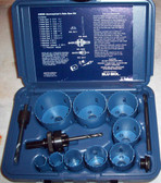 Journeyman's Hole Saw Kit 13 pc Bi-Metal & Case