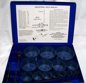 20pc Industrial Hole Saw Kit Bi-Metal & Metal Case
