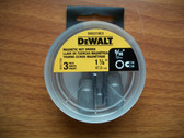 "DeWALT 5/16"" Magnetic Nut Setter 1-7/8"" long DW2219C3 -- 1 Pack of 3 Bits"