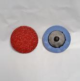 "2"" Sandpaper Roloc Discs, 24 Grit, A/O Type R, LTS, 25 pack"