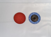 "2"" Sandpaper Roloc Discs, 80 Grit, A/O Type R, Gemtex, 25 pack"