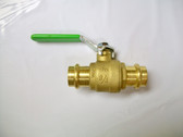"3/4"" Pro Press Ball Valve, Brass Body, Lead Free, Lot of 2 Valves, FREE SHIPPING"