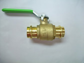"1"" Pro Press Ball Valve, Brass Body, Lead Free, Lot of 2 Valves, FREE SHIPPING"