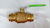 "1-1/2"" Pro Press Ball Valve, Brass Body, Lead Free, Lot of 2 Valves, FREE SHIPPING"