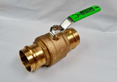 "2"" Pro Press Ball Valve, Brass Body, Lead Free, Lot of 2 Valves, FREE SHIPPING"