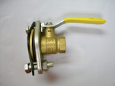 """3/4"""" NPT Flanged Ball Valve, Brass Body, Lead Free, Lot of 2 Valves, FREE SHIPPING"""