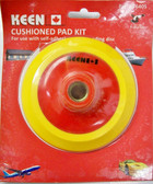 "5"" x 5/8"" Cushioned Pad Kit PSA Adhesive Keen Abrasives #76405 - Lot of 3"