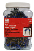 "1/2"" Metal Insulated Staples GB, Lot of 200"