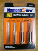 "Diamond Hole Saw Set 1/4"", 3/8"", 5/16"", 1/2"" For Tile DiamondSure"