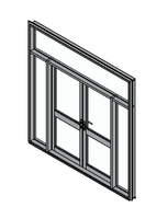 Hinged Double Glass