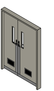 Pivot Door Double Solid