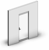Curtain Panel-Door-Hinge-Single