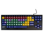 Kinderboard keyboard with big easy keys and color coding.