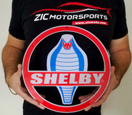 SHELBY COBRA – ROUND STEEL Wall SIGN