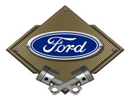 Ford Blue Oval Bronze Carbon Diamond