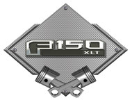 Ford F150 F-150 13th Gen Silver Carbon Diamond Metal Art Wall Sign - 25x19