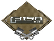 F150 F-150 13th Gen Bronze Carbon Diamond Metal Art Wall Sign - 25x19