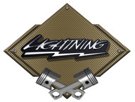 Ford F150 F-150 SVT Lightning Bronze Carbon Diamond Metal Art Wall Sign - 25x19