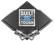 Built Ford Tough Black Carbon Diamond Metal Art Wall Sign
