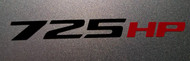 725HP Decal Sticker