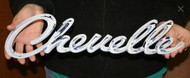 GM Chevrolet CHEVELLE Script 1968-69 Steel Sign Emblem (Small 18x5)