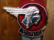 Vintage Pontiac Chief Head Emblem / Metal Art Sign (Large 25x18)