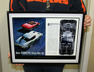 Chevrolet CORVETTE STINGRAY 1963 / Metal Art Sign
