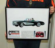 Chevrolet CORVETTE 1960 / Metal Art Sign (18x14)