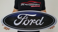 Ford Blue Oval Emblem Metal Sign