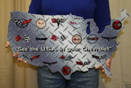 Corvette USA MAP Metal Sign Wall Hanging Art - 24x14